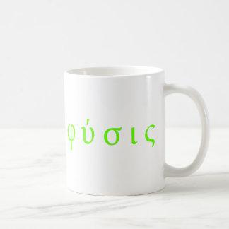 φύσις : physics greek symbols coffee mug