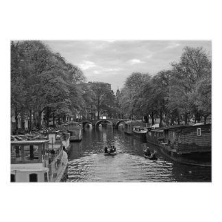 Тhe canal along the street Oudezijds Voorbrgwal Photo Print