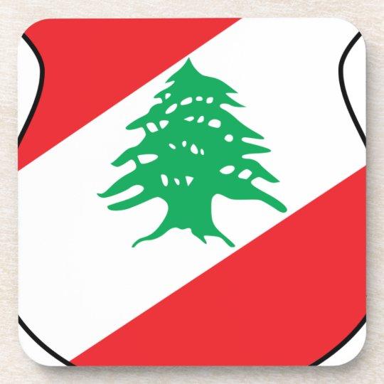 شعار لبنان Lebanese Emblem Coat of arms Lebanon Coaster