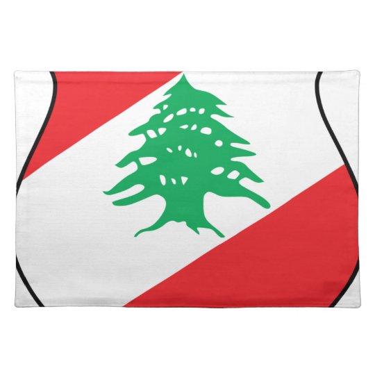 شعار لبنان Lebanese Emblem Coat of arms Lebanon Placemat