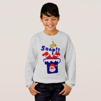 🎅ټOh! Sanp, Santa Stuck in a Chimney Crewneck Sweatshirt
