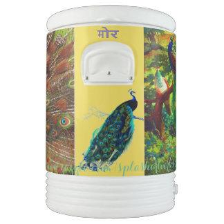 """मोर-Hindi for Peacock"" Drinks Cooler"