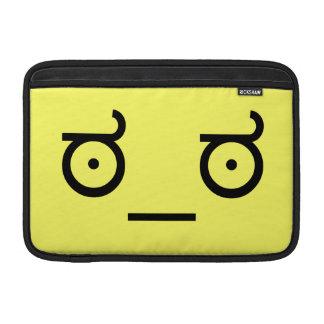 ಠ_ಠ Look of Disapproval ASCCI Unicode Emoticon Tex Sleeve For MacBook Air