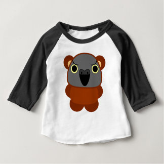 オウム パロット Senegal Parrot in bear Halloween costume Baby T-Shirt