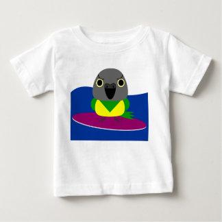 オウム パロット Senegal parrot Surfing Baby T-Shirt