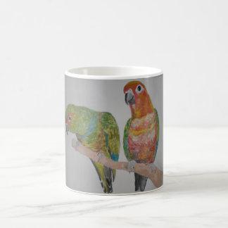 オウム パロットConure pair hanging out Coffee Mug