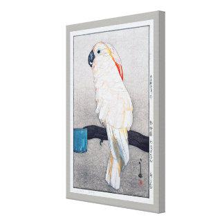 オオバタン・オウム, Salmon-crested cockatoo, Yoshida Canvas Print