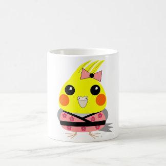 オカメインコ オウム Cockatiel in Kimono Coffee Mug