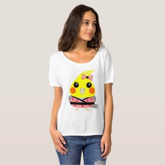 オカメインコ オウム Cockatiel in Kimono T-Shirt