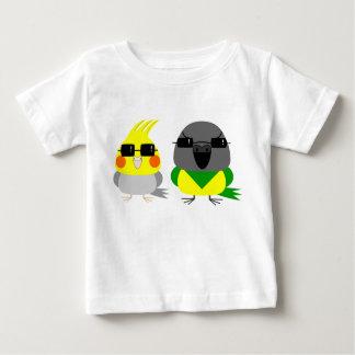 オカメインコ オウム Cockatiel & Senegal parrot with sunglas Baby T-Shirt