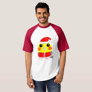 オカメインコCockatiel parrot Santa for Christmas T-Shirt