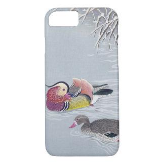 オシドリ, 小原古邨 Mandarin duck, Ohara Koson, Ukiyo-e iPhone 8/7 Case
