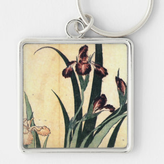 カキツバタ, 北斎 Irises, Hokusai, Ukiyo-e Key Ring