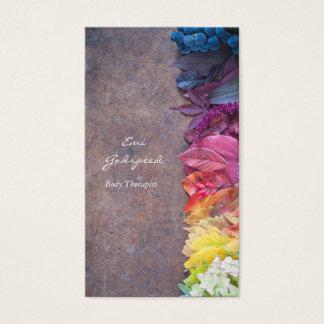 カラフルな葉や花のおしゃれな名刺 BUSINESS CARD