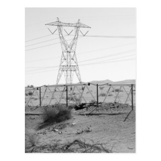 ¯\_(ツ)_/¯ Shrug Electricity Desert California 2 Postcard