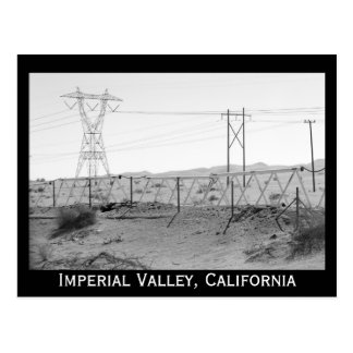 ¯\_(ツ)_/¯ Shrug Electricity Desert California Postcard