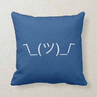 ¯\_(ツ)_/¯ Smugshrug Solid White Throw Pillow