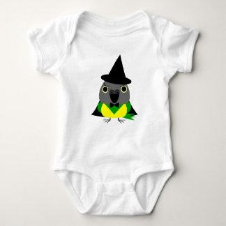 ネズミガシラハネナガインコ オウム Senegal parrot as witch for Hall Baby Bodysuit