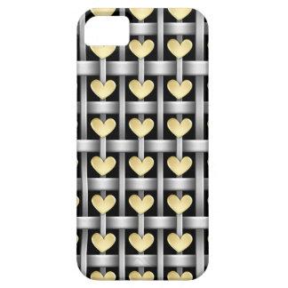ハートおよび金属の織り方 iPhone 5 CASES