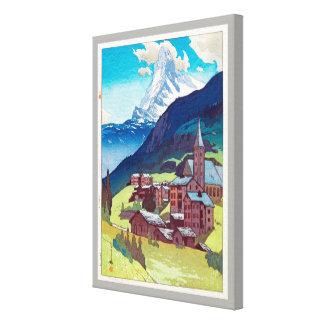 マッターホルン, Matterhorn, Hiroshi Yoshida, Woodcut Canvas Print