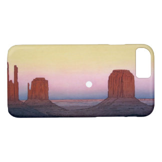 モニュメント・バレー, Monument Valley, Yoshida, Woodcut iPhone 8/7 Case