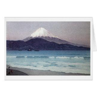 三保の富士, Mt. Fuji seen from Miho peninsula, Yoshida Card
