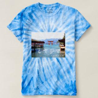 世界遺産宮島厳島神社での一枚~カタカナ文字入り T-Shirt