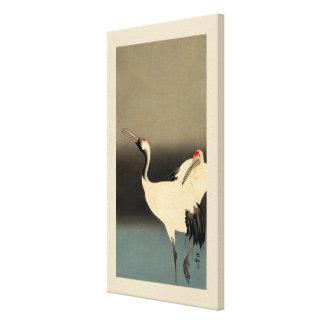 丹頂鶴, 古邨 Red-crowned Cranes, Koson, Ukiyo-e Canvas Print