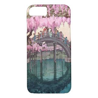 亀戸天神, Kameido Bridge, Hiroshi Yoshida, Woodcut iPhone 8/7 Case