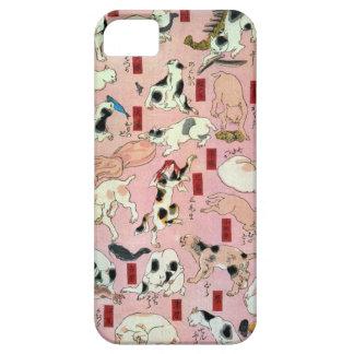其のまま地口猫飼好五十三疋(上), 国芳 Cats(1), Kuniyoshi, Ukiyo-e iPhone 5 Cases
