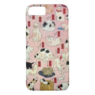 其のまま地口猫飼好五十三疋(中), 国芳 Cats(2), Kuniyoshi, Ukiyo-e iPhone 7 Case