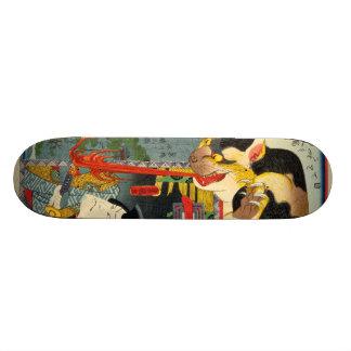 化け猫, 豊国 Monster Cat, Toyokuni, Ukiyo-e Skate Board Deck