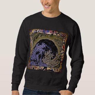 北斎 Feminine Wave Hokusai Fine Art Sweatshirt