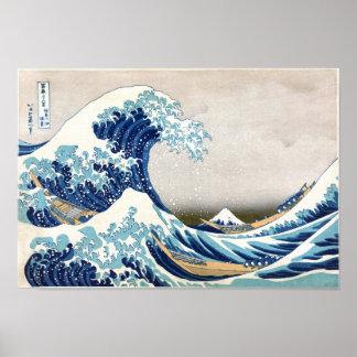 北斎 Great Wave Off Kanagawa Hokusai Fine Art Poster