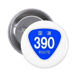 国道390 号線ー国道標識 バッジ