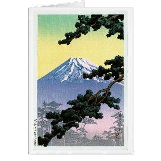 富士山, Mount Fuji, Hasui Kawase, Woodcut Card