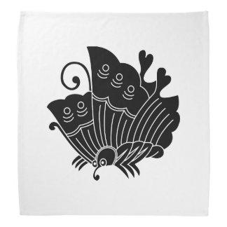 揚 feather butterfly bandana
