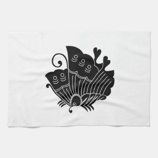 揚 feather butterfly tea towel