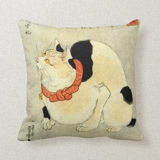 日本猫, 国芳 Japanese Cat, Kuniyoshi, Ukiyo-e Cushion