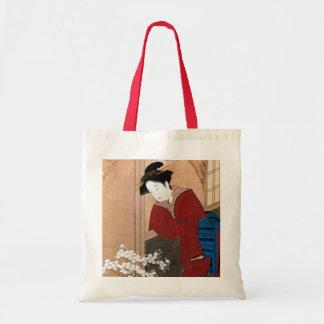 桜の花と女, 春章 Cherry Blossoms and a Woman, Shunsho Tote Bag
