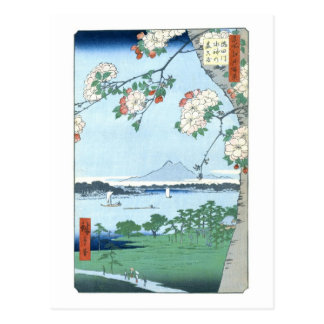 歌川広重「隅田川水神 森真崎」 Suijin Shrine Massaki Hiroshige Postcards