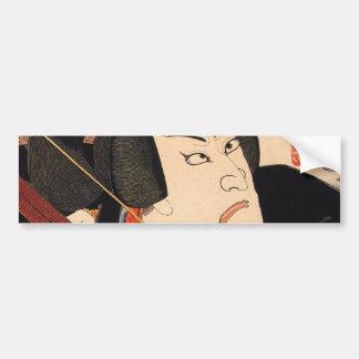 歌舞伎役者, 国芳 Kabuki Actor, Kuniyoshi, Ukiyoe Bumper Sticker