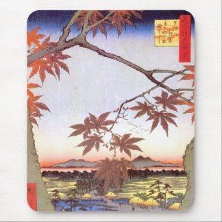 江戸の紅葉, 広重 Maple of Edo, Hiroshige, Ukiyo-e Mouse Pad