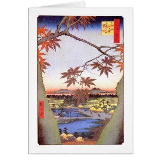 江戸 紅葉 広重 Maple of Edo Hiroshige Ukiyo-e Cards