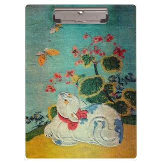 猫と蝶, 春信 Cat and Butterfly, Harunobu, Ukiyo-e Clipboard