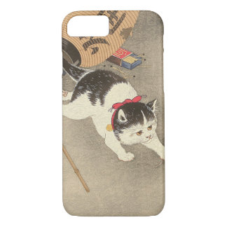 猫, 古邨 Cat Catching Mouse, Ohara Koson, Ukiyo-e iPhone 8/7 Case