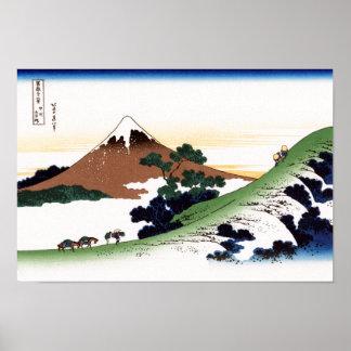 甲州犬目峠 Inume Pass, Koshu, Hokusai Poster