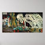 相馬の古内裏, 国芳 Skeleton manipulated by Witch, Kuniyosh Poster