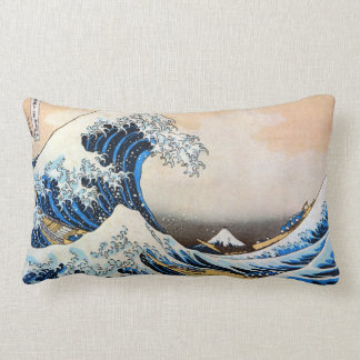 神奈川沖浪裏, 北斎 Great Wave, Hokusai, Ukiyo-e Lumbar Pillow