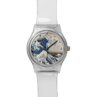 神奈川沖浪裏, 北斎 Great Wave, Hokusai, Ukiyo-e Watch